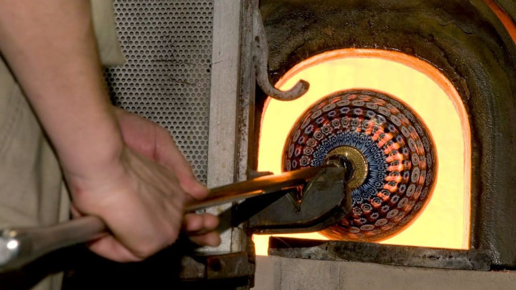 Show item 2 of 8. Technique demonstration on Glassblowing Showroom and Foundry tour in Venice Italy