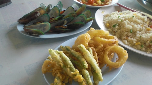Show item 3 of 5. a selection of local seafood at Koh Larn Coral Island