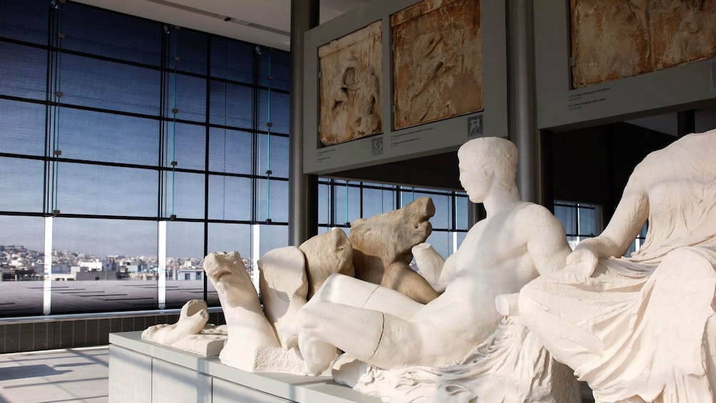 Show item 5 of 5. Parthenon Gallery sculptures at the Acropolis Museum in Athens