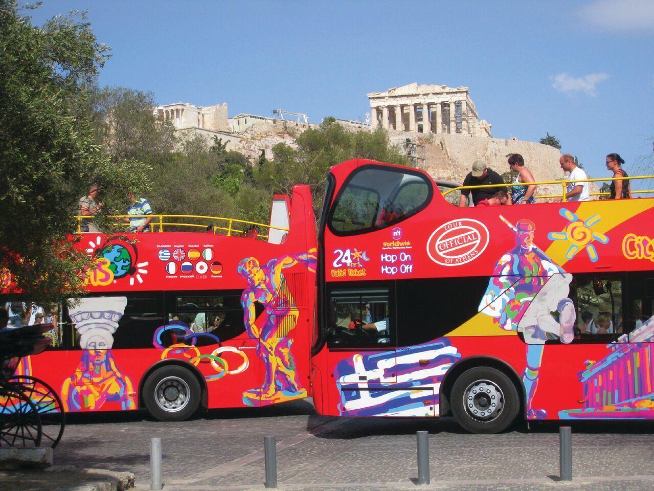 City Sightseeingin hop-on hop-off -bussikiertoajelu Ateenassa