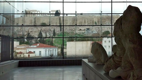 Inside the Acropplis Museum in Athens