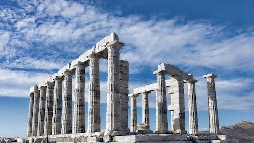 Ruins of the Temple of Poseidon in Cape Sounio