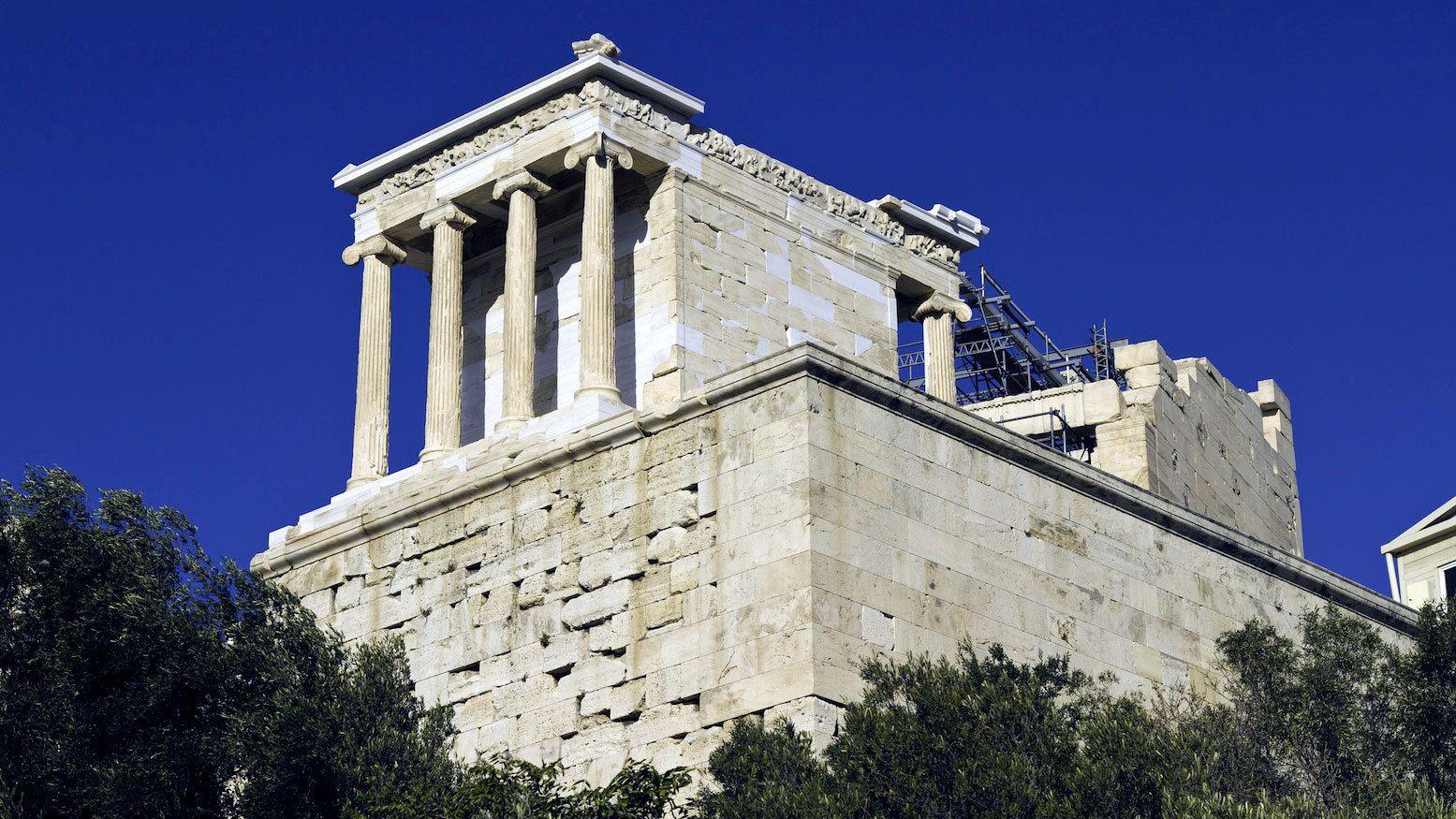 The Temple of Athena Nike on the Acropolis of Athens