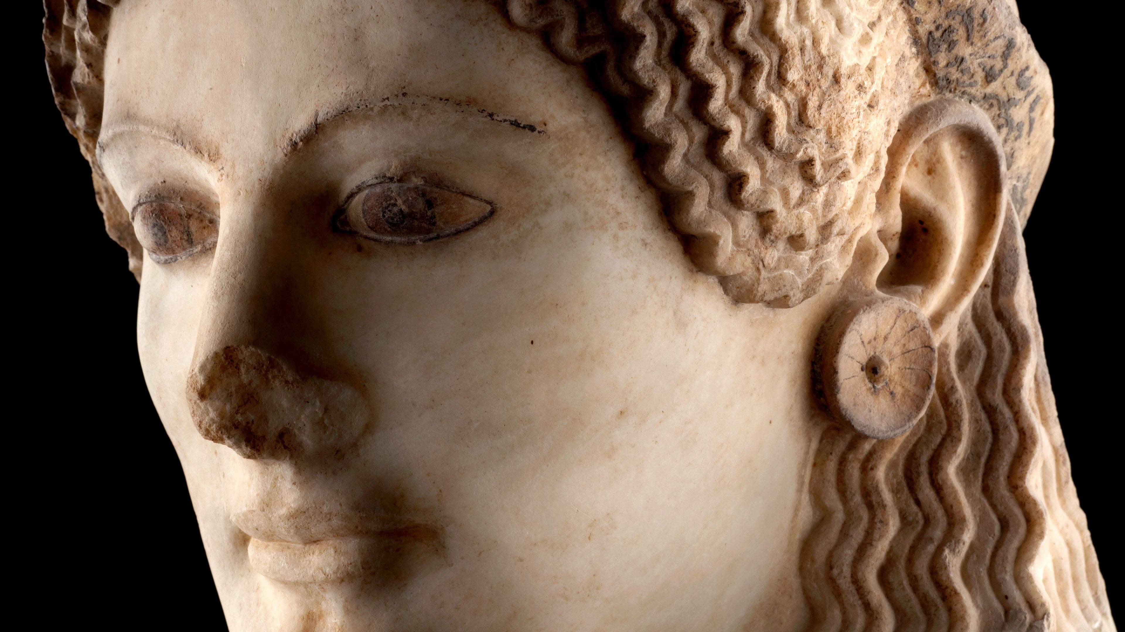 Sculpture on display at the Acropolis Museum in Athens