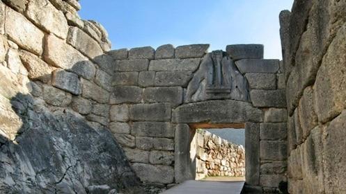 Lion Gate entrance to the citadel of Mycenae
