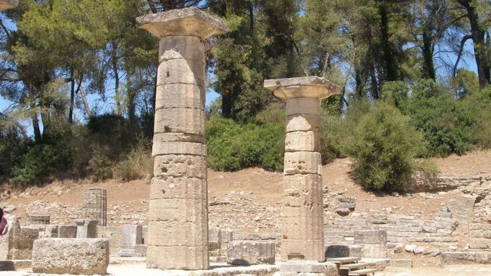 Show item 10 of 10. Temple of Hera ruins in Olympia