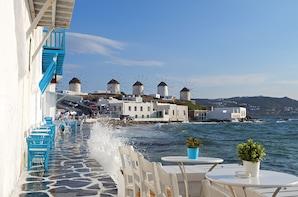 Vier-Tages-Ausflug griechische Inseln Mykonos und Santorin von Athen