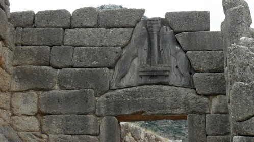 Lion Gate entrance to the citadel of Mycenae
