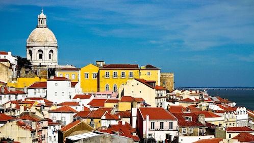 Hill side coast of Lisbon, Portugal