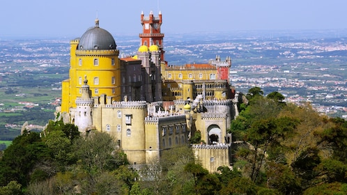 Pena Palace overlooking the medieval town of Sintra