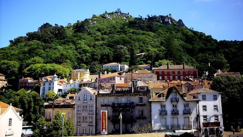 Medieval town of Sintra rests at the foot of Pena Palace
