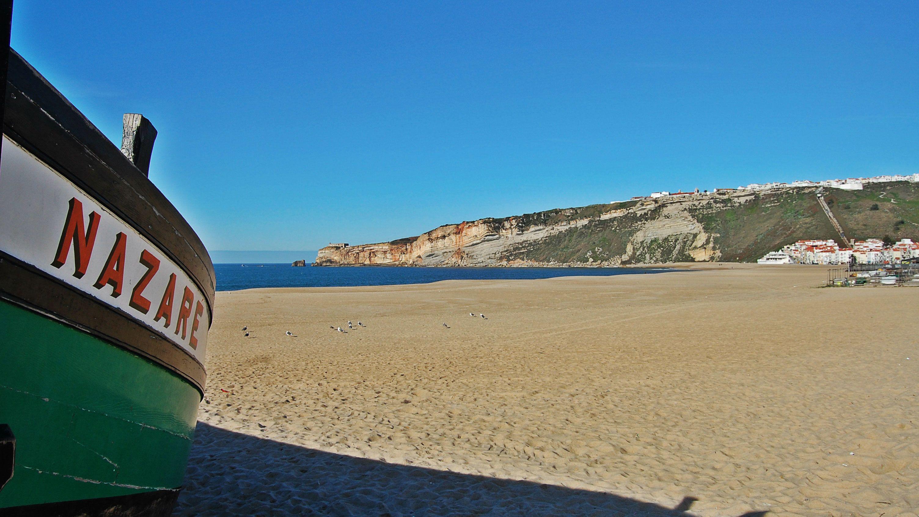 Beach in Nazare, Portugal
