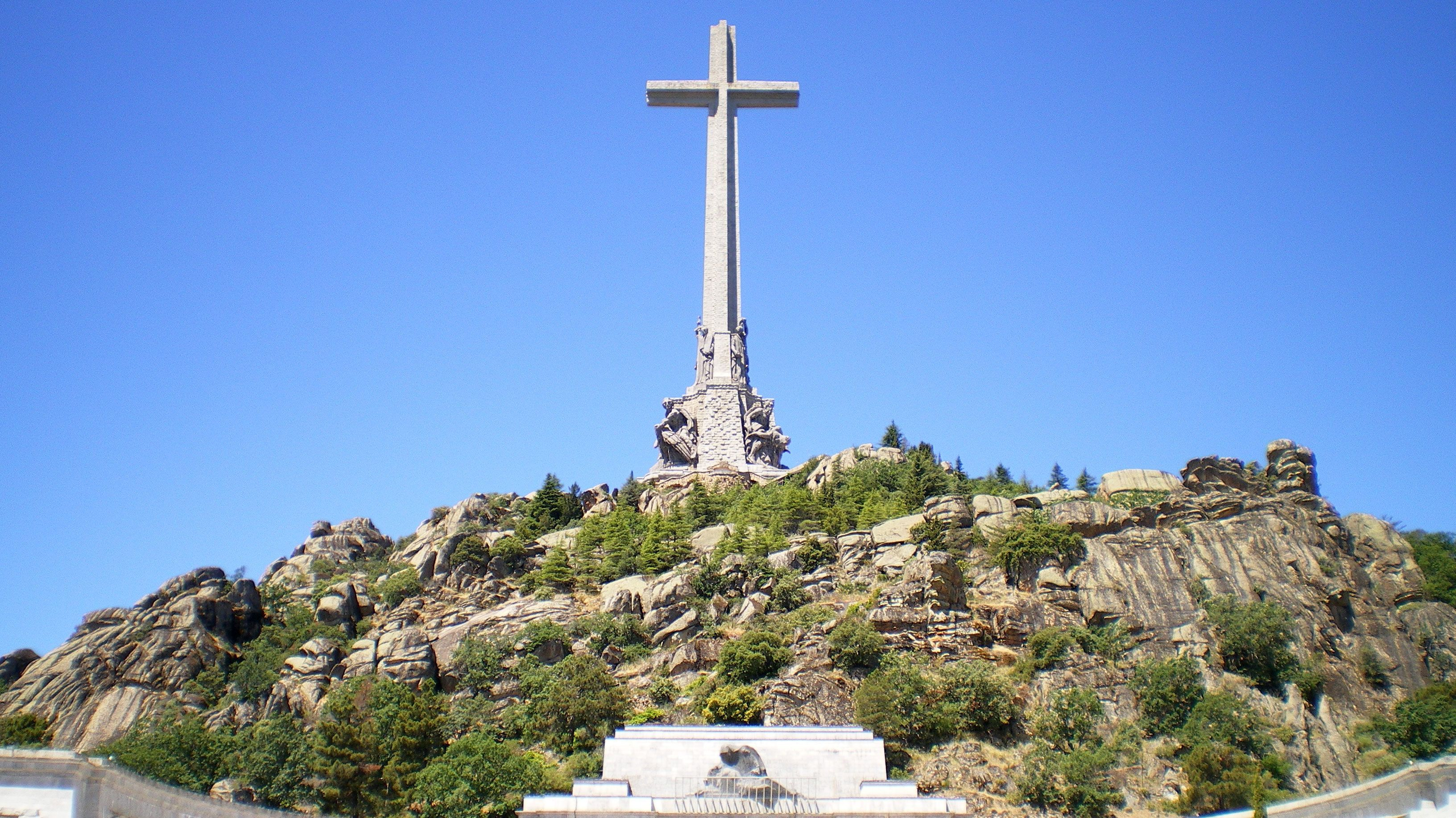 View of a cross on a hill in Spain