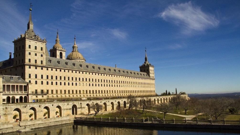 View of El Escorial palace in Spain