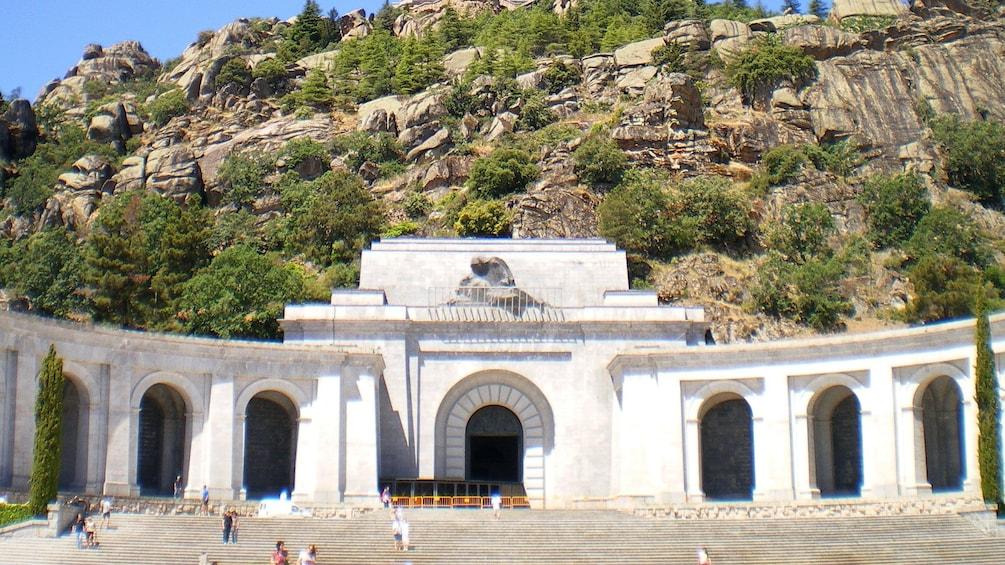 Close view of the Valle de los Caídos in Spain