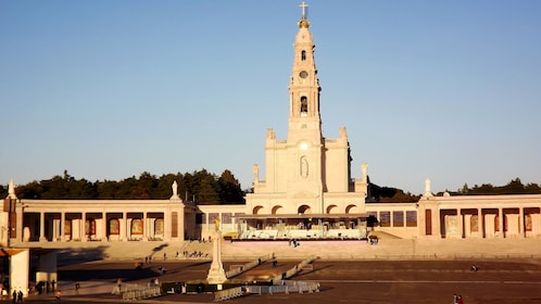 The Basilica of Our Lady of Fátima at sunset