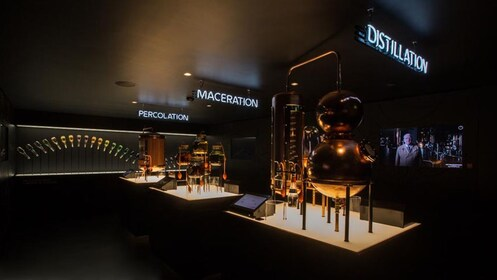 distillation area on tour in amsterdam