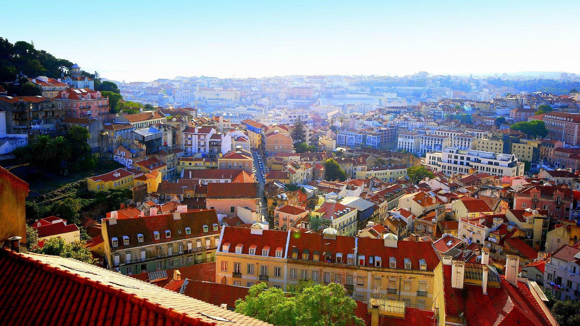 Skyline of Lisbon, Purtugal