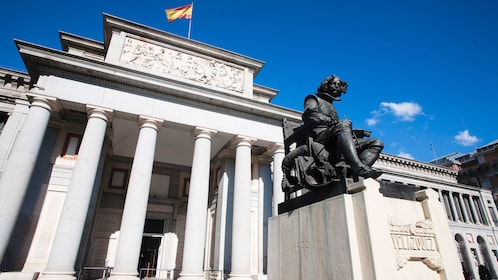Statue in front of the Prado Museum in Madrid