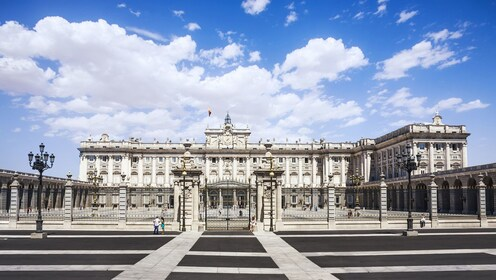 Front of the Royal Palace in Madrid during the day
