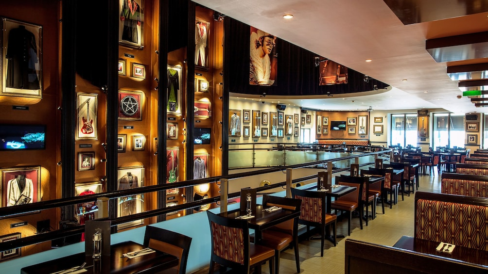 Dining area of the Hard Rock Cafe Lisbon