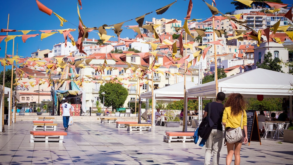 Show item 4 of 12. Walk through Rossio, Lisbon's main square