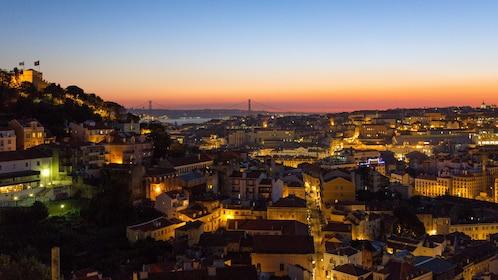 Evening skyline of Lisbon