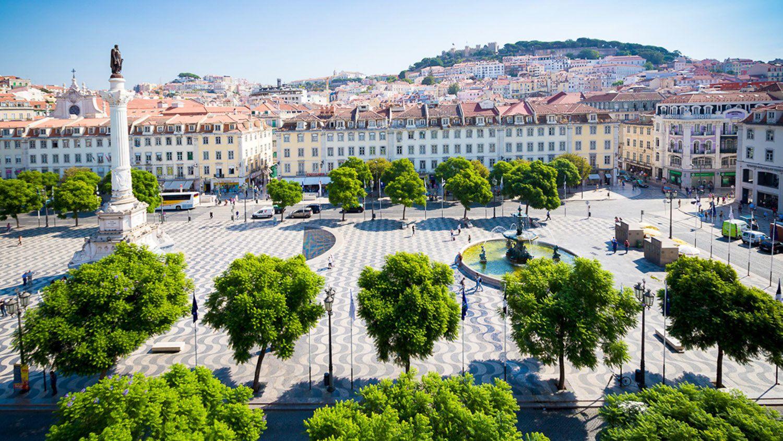 Rossio Square, the main public park in Lisbon