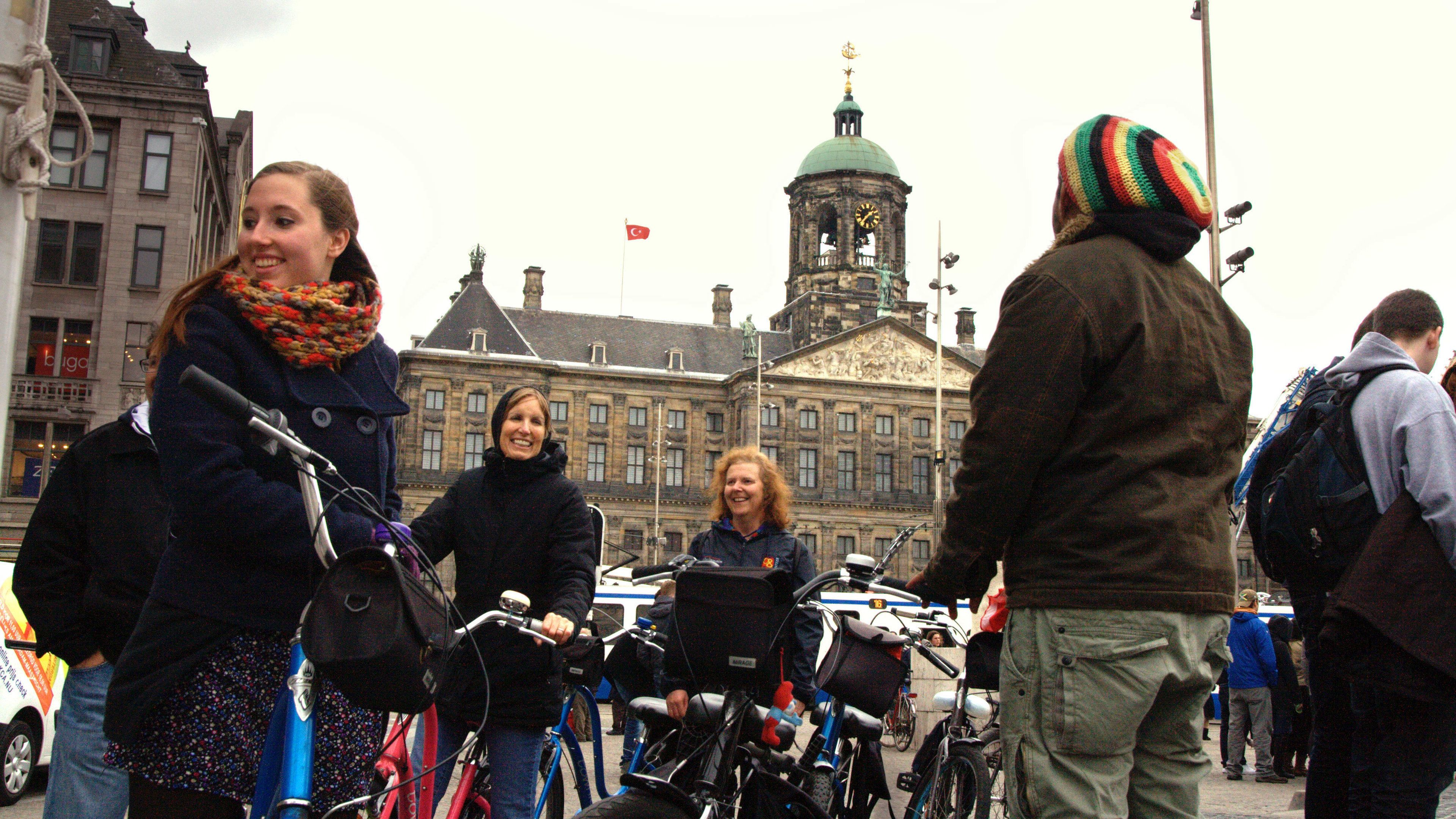 Bicycling Tour group in Amsterdam
