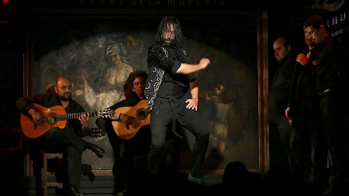 Male dancer performing at the Flamenco Show at Corral de la Moreria in Madrid