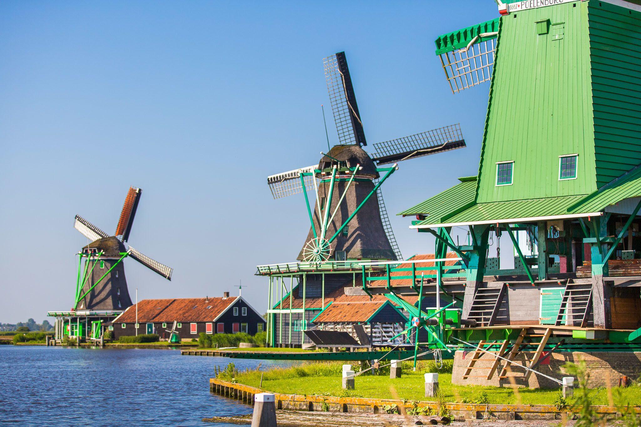 Visita por la campiña neerlandesa con molinos de viento, Volendam y Marken