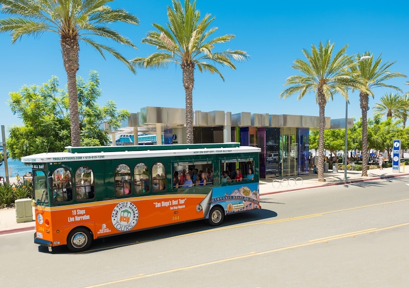 Show item 9 of 9. San Diego Old Town Trolley Hop-On Hop-Off Tour