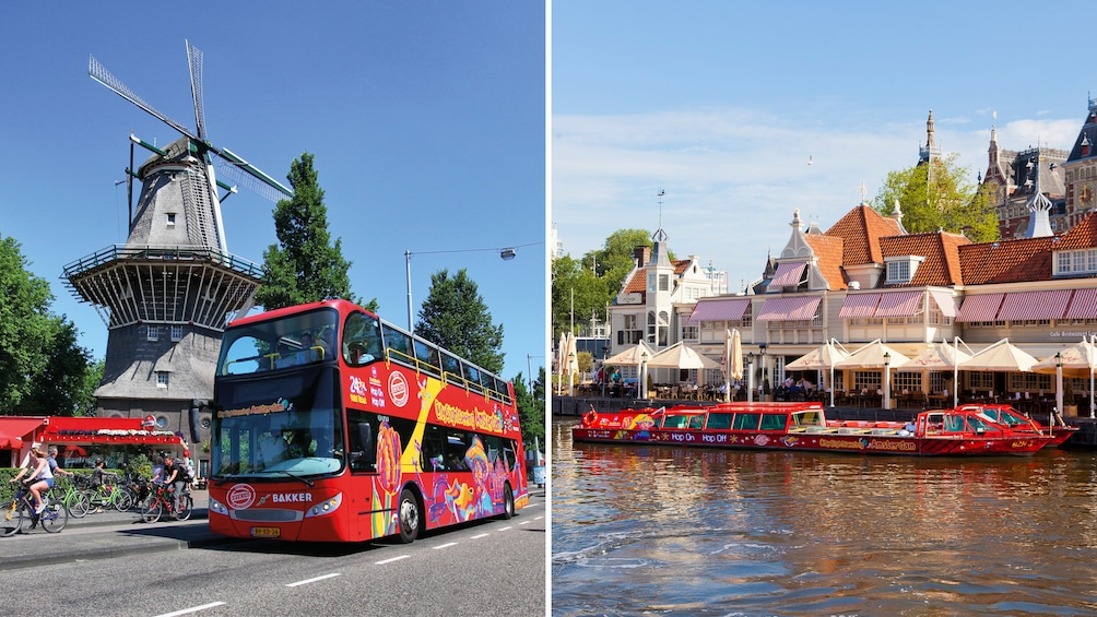 Show item 1 of 10. Amsterdam Hop-On Hop-Off Bus Tour & Canal Cruise