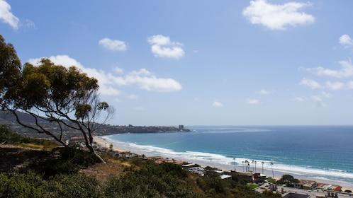 Landscape of shoreline in San Diego