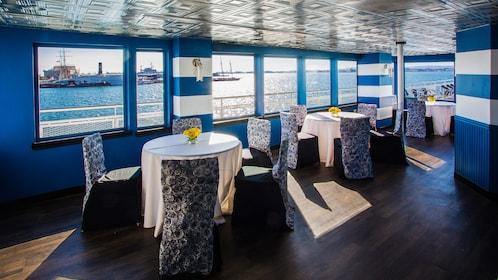 Inside a San Diego cruise boat