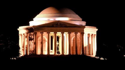 The Jefferson Memorial at night in Washington DC