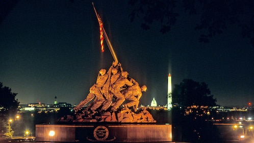The Marine Corps War Memorial in Washington DC