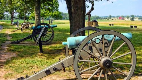 Civil war era canons at Gettysburg in Washington DC