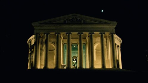 The Jefferson Memorial at night in Washington DC