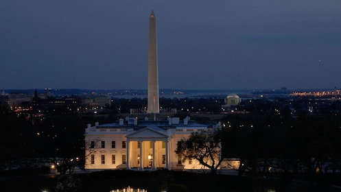 The White House at night in Washington DC