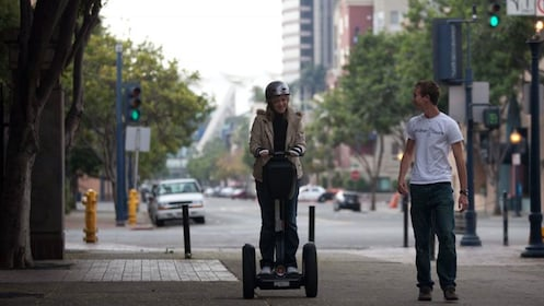 Instructor with segway student in San Diego