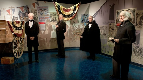 Standing American president wax figures at Madame Tussauds in Washington DC