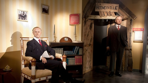 Wax figures of American presidents at Madame Tussauds in Washington DC