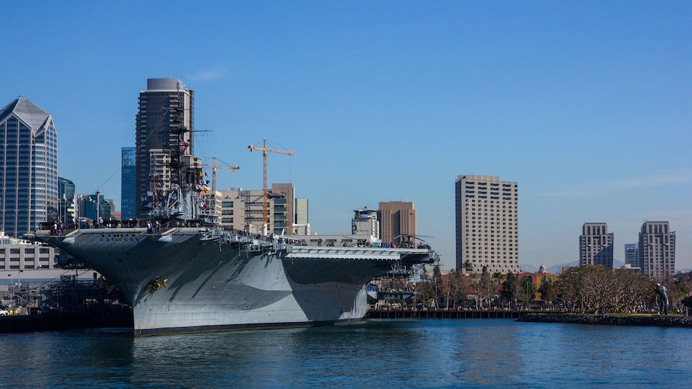 Close up of Ship from the USS Midway Museum in San Diego
