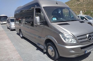 Arrival Private Transfer from Mykonos Airport JMK to Mykonos by Sprinter Mi...