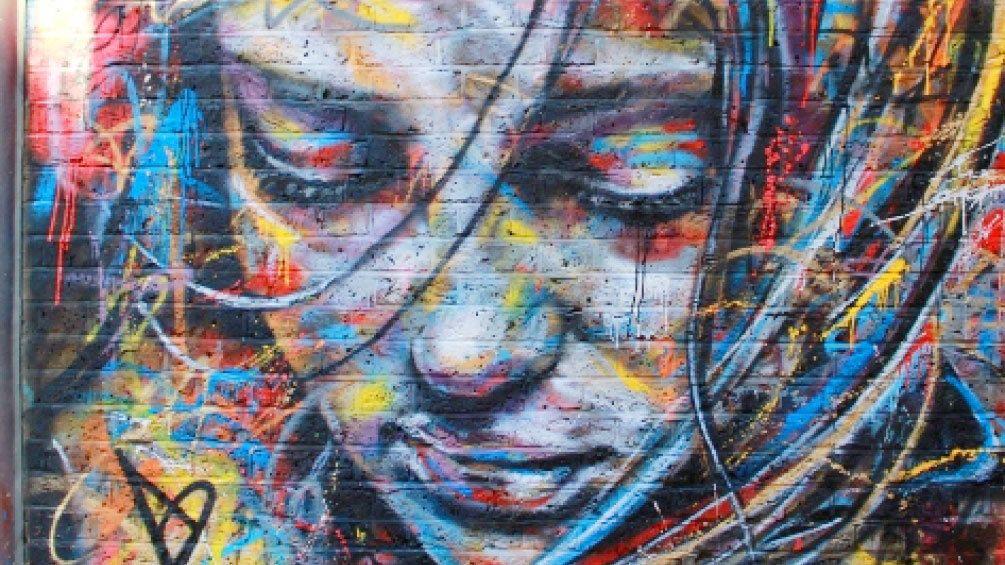 street art paint on building in London
