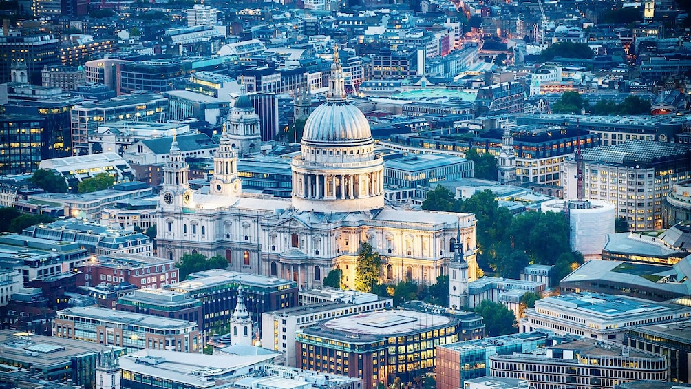 Show item 1 of 8. ariel view of St. Paul's Cathedral in London