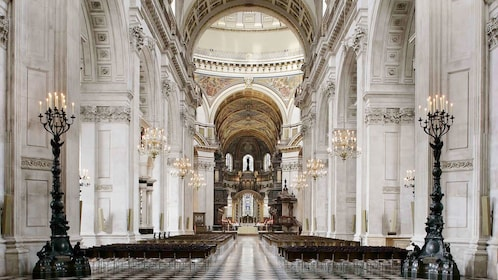beautiful architecture inside of St. Paul's Cathedral in London