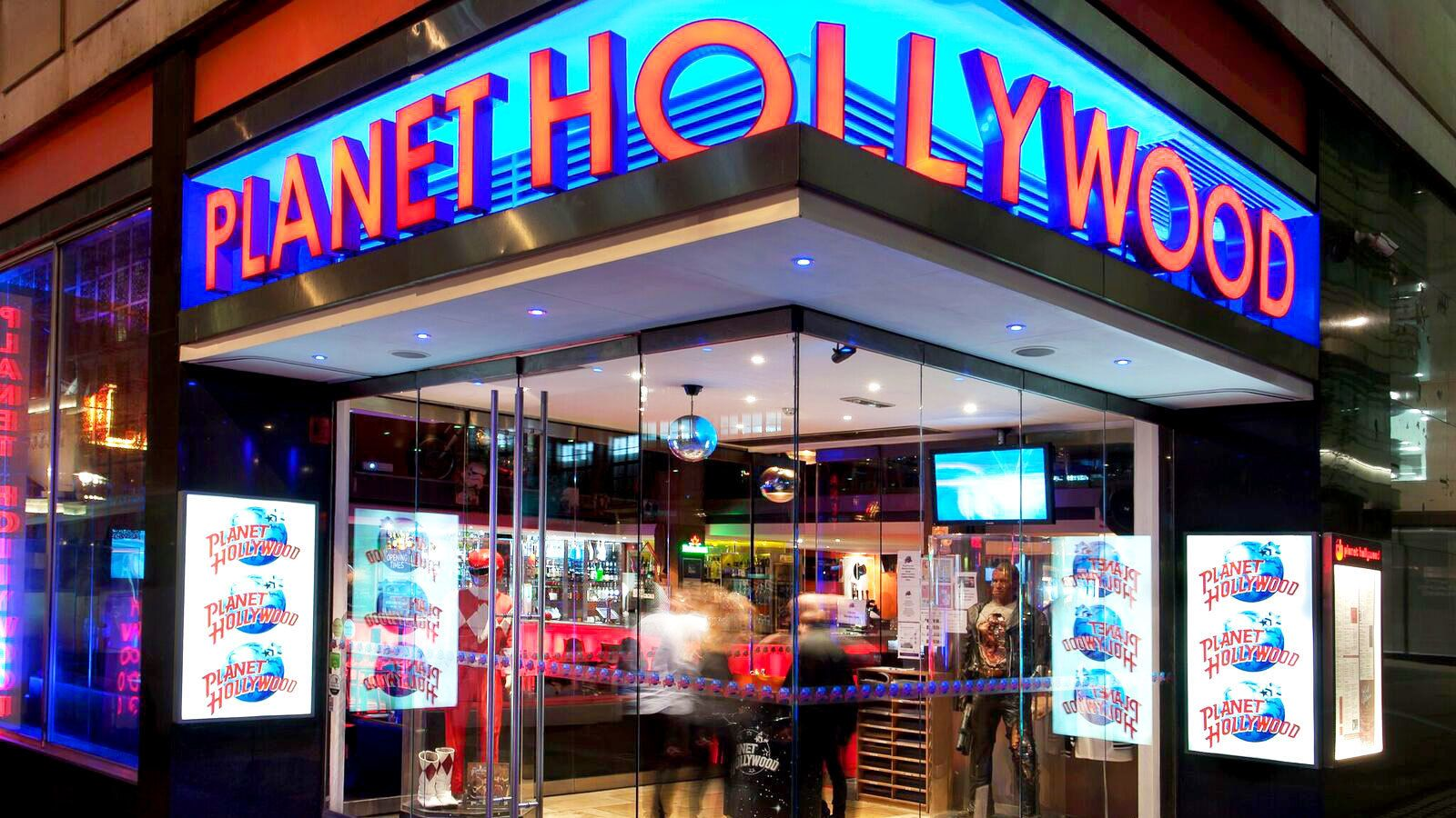 Exterior of Planet Hollywood in London