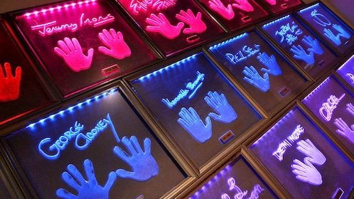 Backlight celebrity handprints in Planet Hollywood London